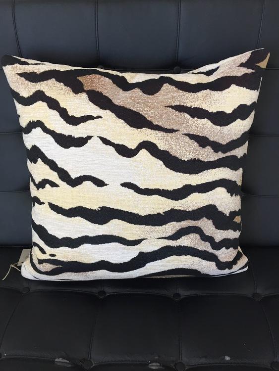 Zebrakudde Guld/svart