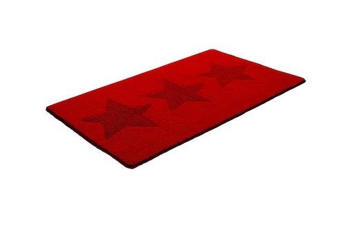 Bad/ sovrumsmatta star röd