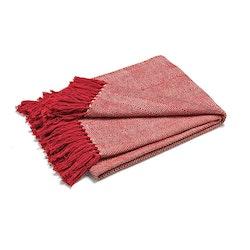 Pläd Fishbone Röd / Natur
