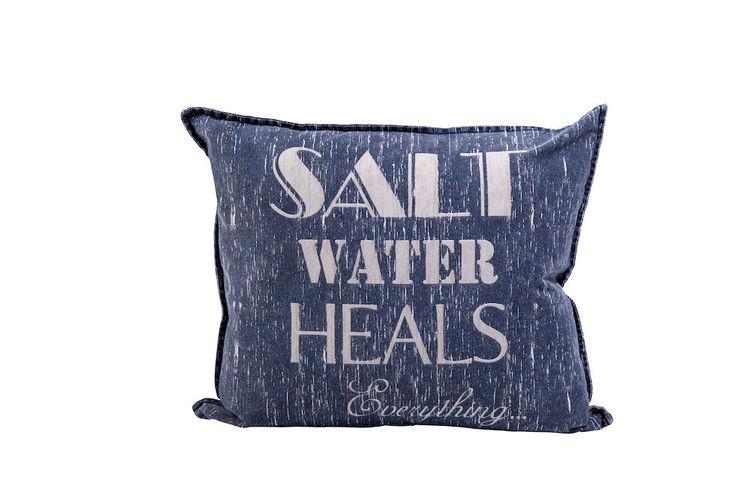 Kuddfodral Saltwater Marinblå