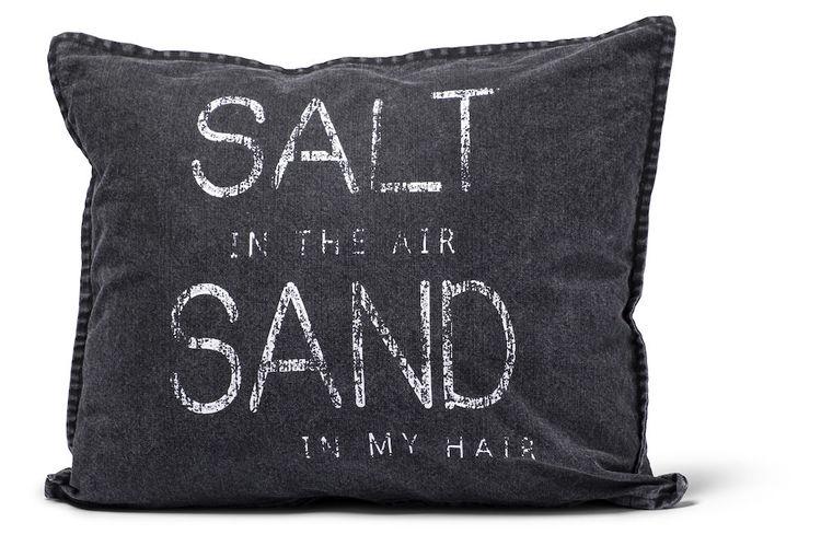 Kuddfodral Salt Svart