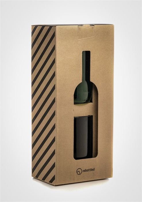 Tumblerglas recyklade vinflaskor