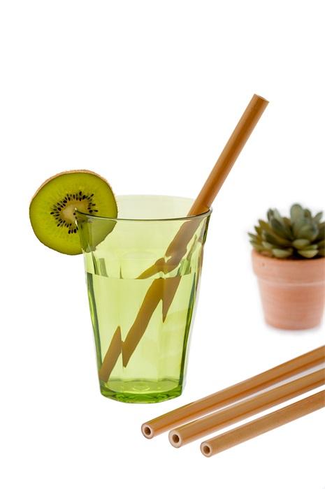 Sugrör i bambu med borste