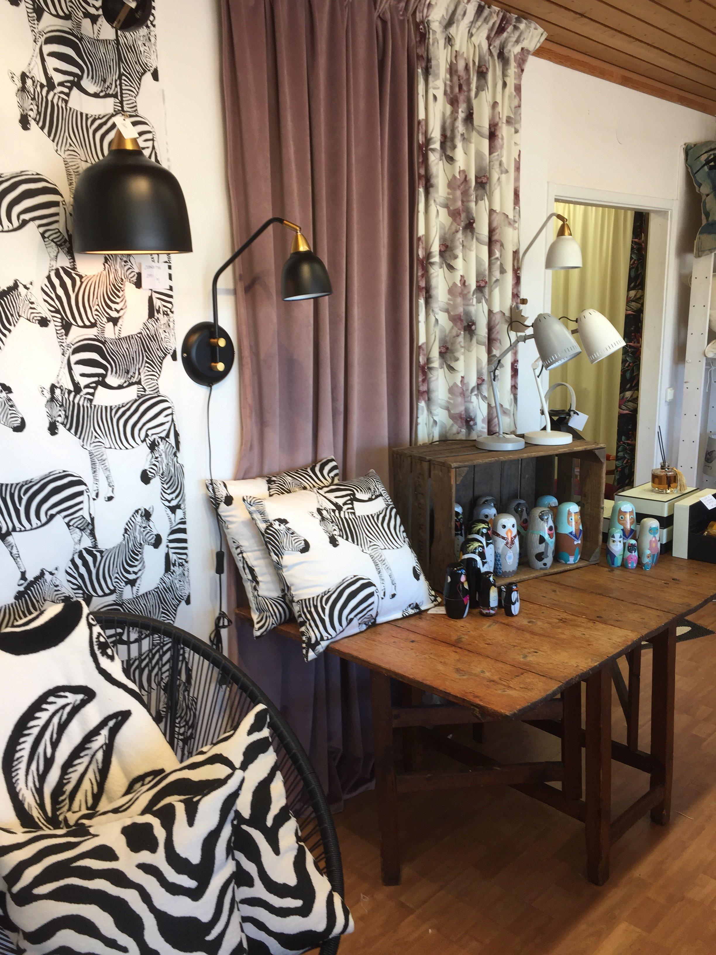 Kuddfodral zebra svart/vit