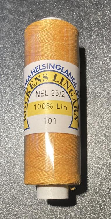 Bockens knyppelgarn 35/2  101 gul, 12,5 gr/rle