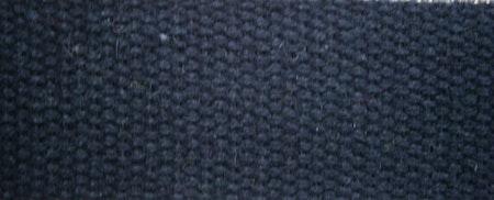 Grovt bomullsband till montering av armband  20x2,5 cm svart