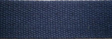 Grovt bomullsband till montering av armband  20x2,5 cm marinblå