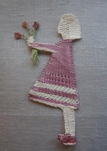 Lina med blommor  6x11,5 cm