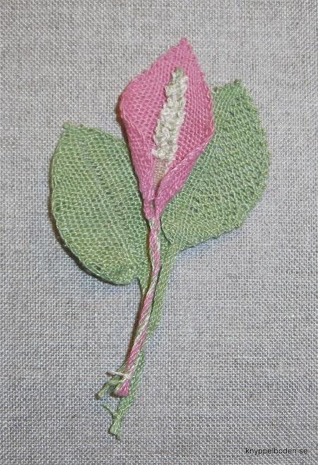 Rosenkalla blomma 4x4 cm, blad 3x4 cm