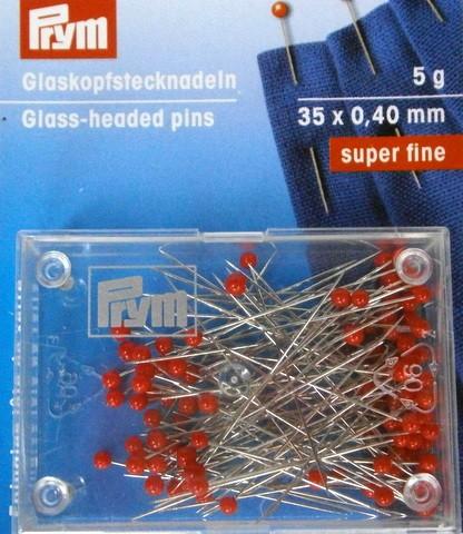 Nål med glashuvud 35x0,4 mm 5g