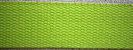 Grovt bomullsband till montering av armband  20x2,5 cm limegrön