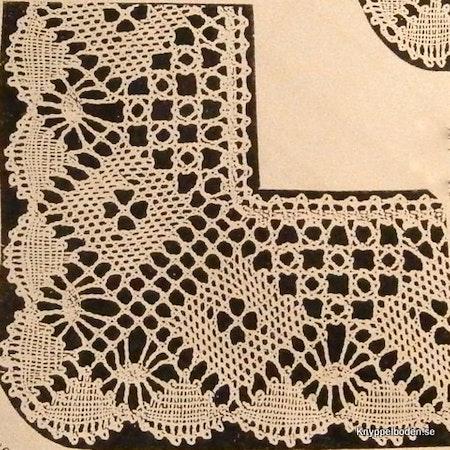 Sockerudd med nätruta 26x26 cm