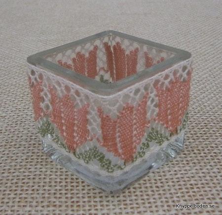 Vårtulpan 3 cm avsedd för ljusglas med 16 cm omkrets
