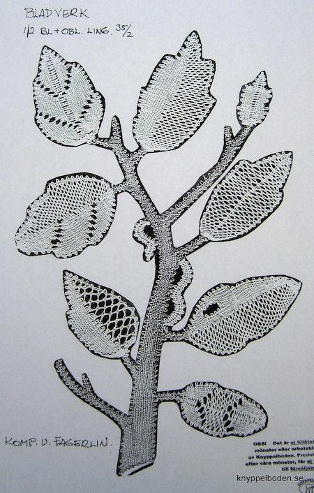 Bladverk 23x15 cm