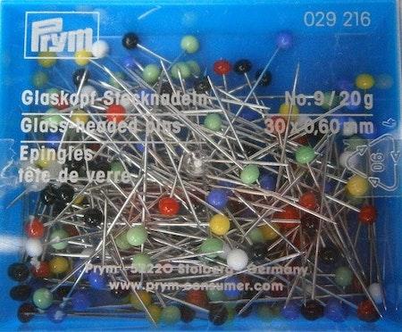 Nål med glashuvud 30x0,6 mm 20g