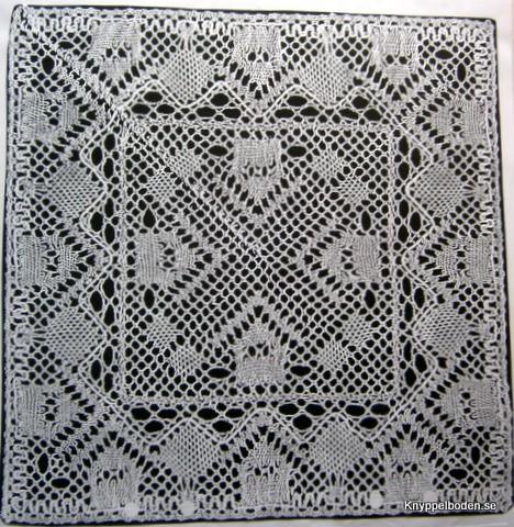 Radhus 19,5x19,5 cm knypplad i 1 del