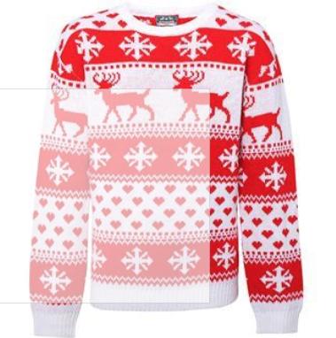 Mysig Jultröja med renar för Dam
