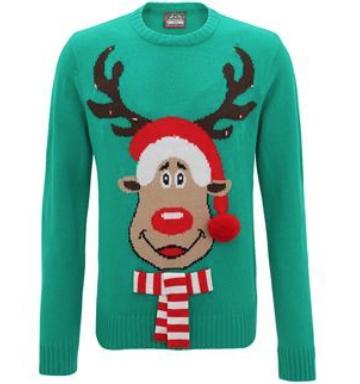 Jultröja Rudolph med lampor
