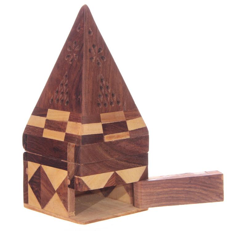 Pyramid låda för koner, Rökelsehållare