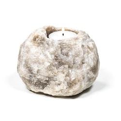 Grå Ljushållare i Saltkristall 600-1000g