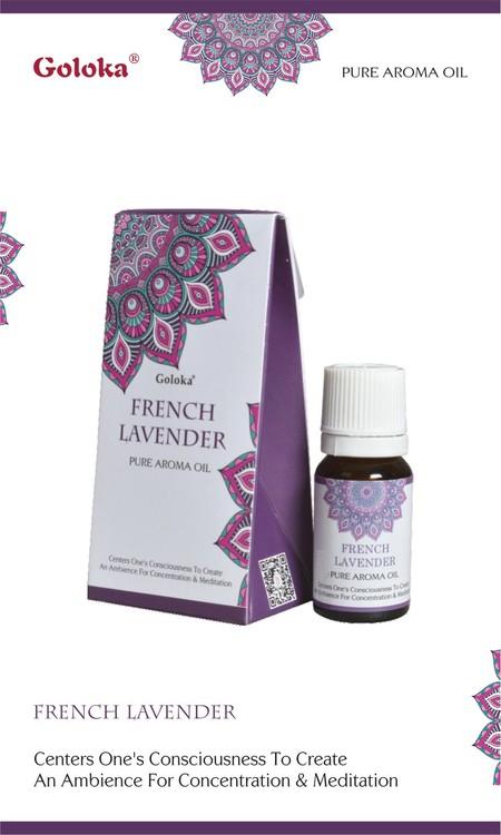 French Lavender, Lavendel Doftolja, 10ml Goloka