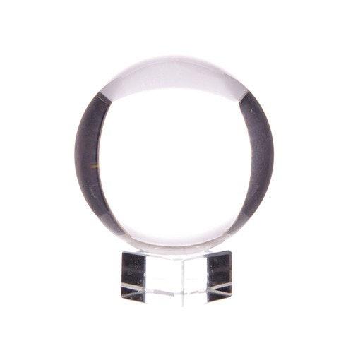 Kristallkula på glasfot, 10 cm
