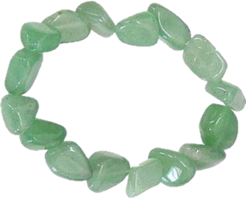 Armband i Grön Aventurin, Trumlade stenar