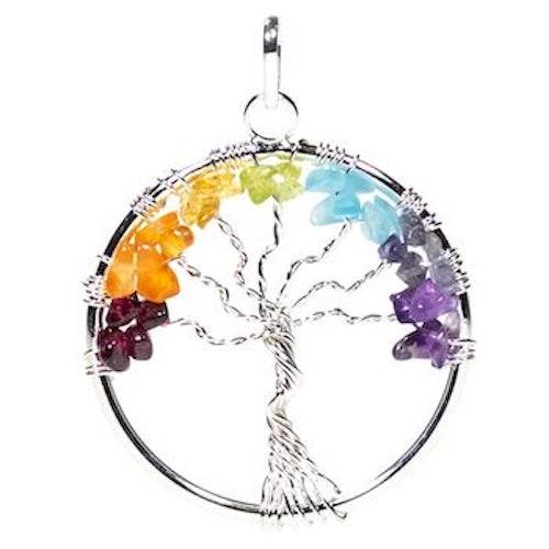 Chakrahänge Livets Träd, Silver