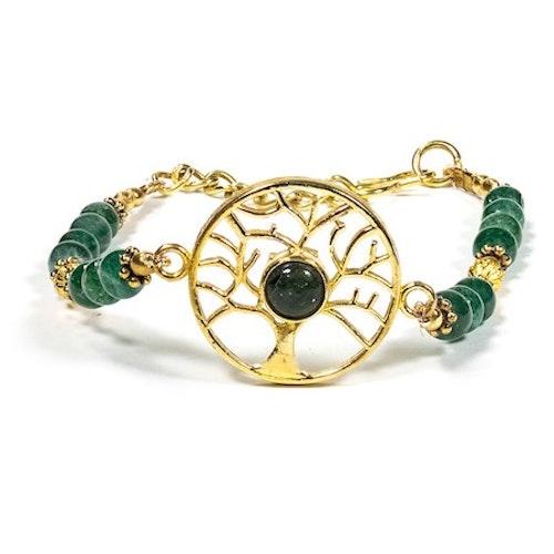 Armband med Livets Träd och Grön Aventurin