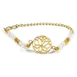 Armband med Lotusblomma och Månsten