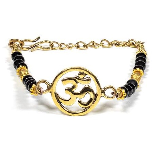 Armband med Ohm-symbol och Onyx