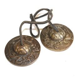 Tingshas, Tibetanska Meditationsklockor med drakar
