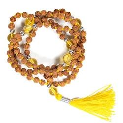 Malahalsband med Rudraksha och Citrin