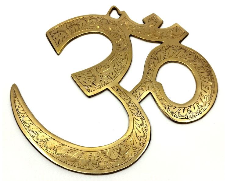 Om-symbol i mässing, Väggdekor