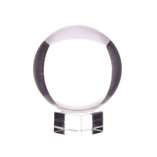 Kristallkula på glasfot, 4 cm