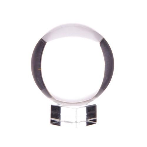 Kristallkula på glasfot, 6 cm