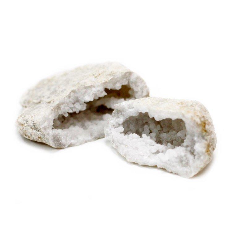 Kristallgeod 3-4 cm, Vit Kalcit