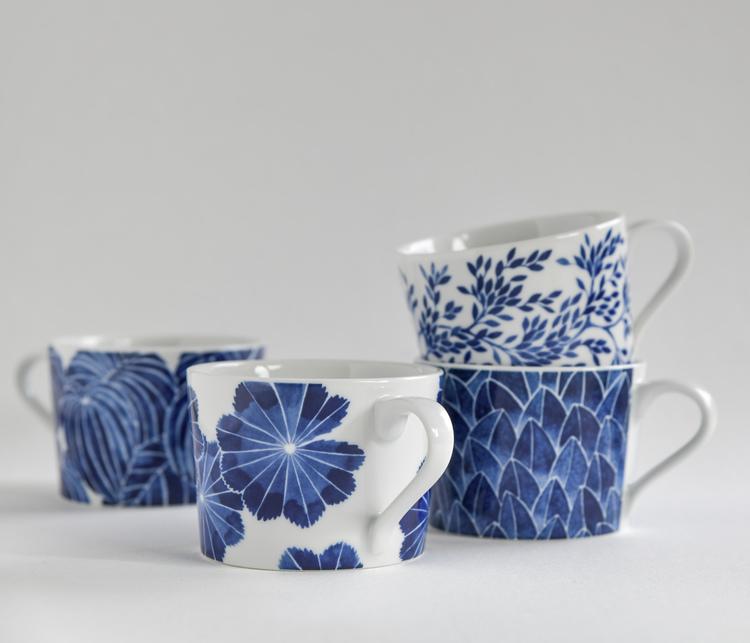 4-p koppar Botanica blå