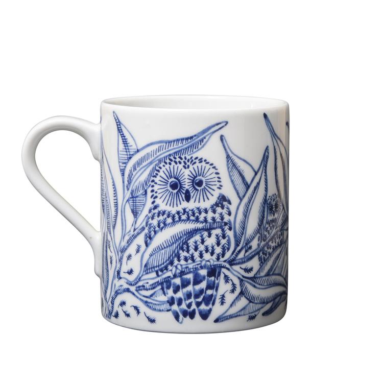 2:a-sortering Owls at night mugg blå 35 cl