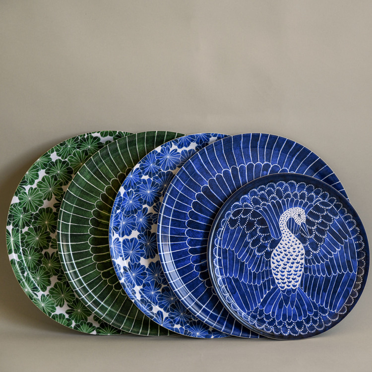 Bricka Daggkåpa blå Ø 38 cm
