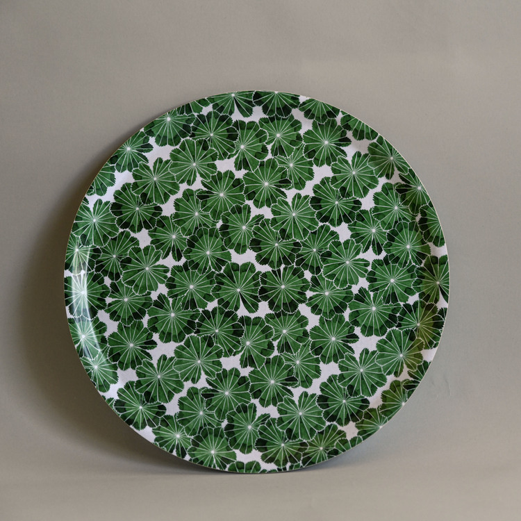 Daggkåpa bricka grön Ø 38 cm