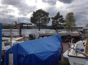 Sommaruppläggning kölbåt