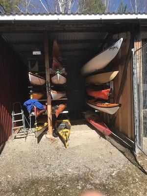 Uppläggning kanot/kajak, årsavgift