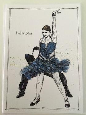 "Kort ""Latin diva"""