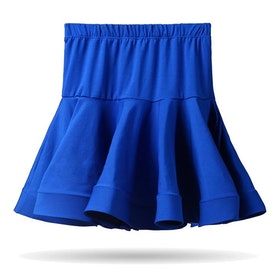 Kjol med isydda hotpants, flera färger