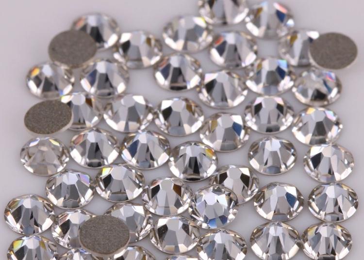 Högkvalitativa glaskristaller, Clear, SS16