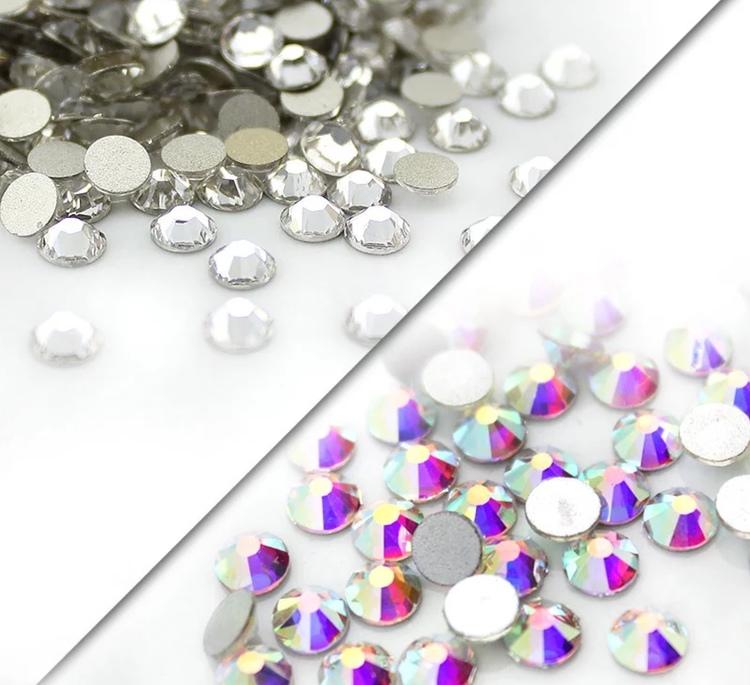Högkvalitativa glaskristaller, Clear, SS20