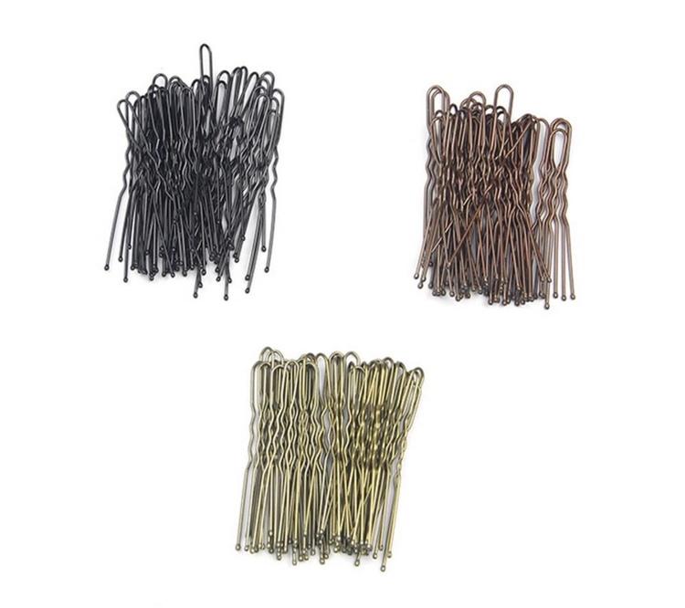 Hårnålar 20-pack, tre färger