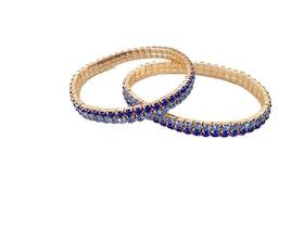 Blå strassarmband