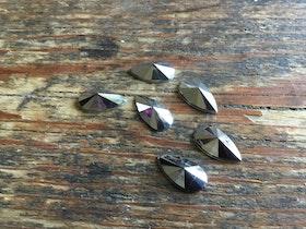 Droppe i Akryl, 6st, 13x7 mm, flera färger